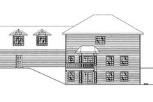 House Plan Design - Traditional Exterior - Rear Elevation Plan #117-837
