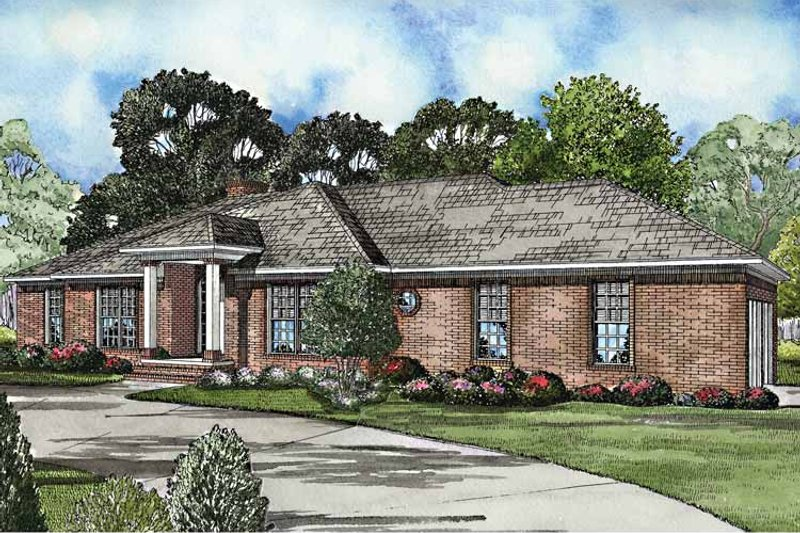 Ranch Exterior - Front Elevation Plan #17-3165 - Houseplans.com