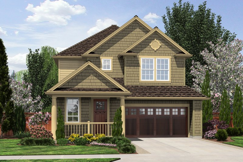 Traditional Exterior - Front Elevation Plan #48-509