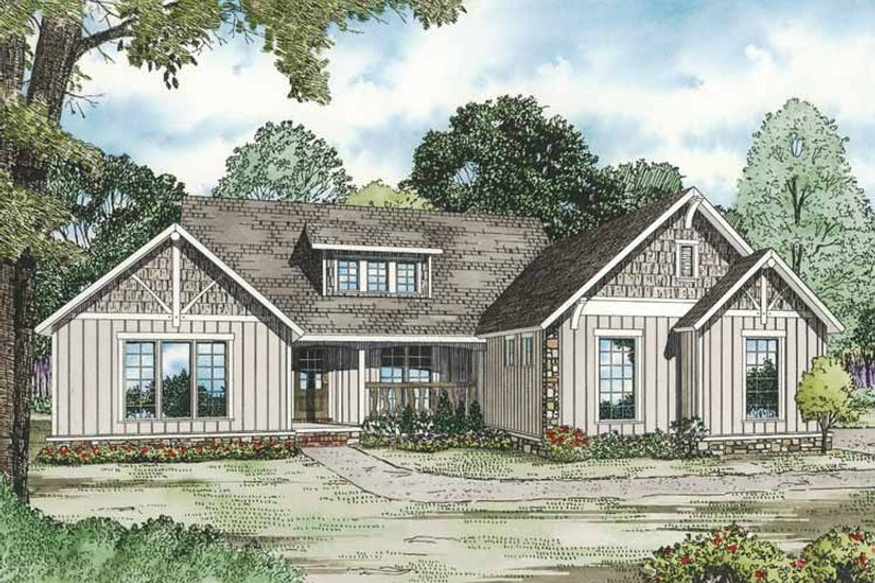 Country Exterior - Front Elevation Plan #17-3288