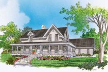 Dream House Plan - Victorian Exterior - Front Elevation Plan #929-469
