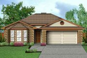 Traditional Style House Plan - 4 Beds 2 Baths 1585 Sq/Ft Plan #84-114 Exterior - Front Elevation