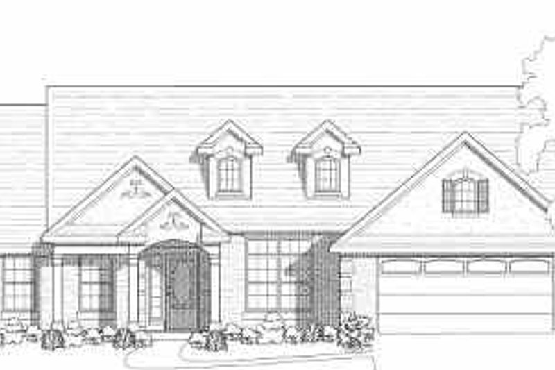 Traditional Style House Plan - 3 Beds 2 Baths 1890 Sq/Ft Plan #80-115 Exterior - Front Elevation