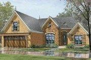 European Style House Plan - 3 Beds 2 Baths 1756 Sq/Ft Plan #424-58