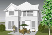 Craftsman Style House Plan - 4 Beds 2.5 Baths 1824 Sq/Ft Plan #48-498 Exterior - Rear Elevation
