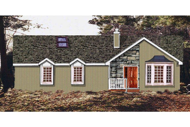 House Plan Design - Ranch Exterior - Front Elevation Plan #3-135