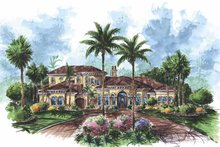 Dream House Plan - Mediterranean Exterior - Front Elevation Plan #1017-69
