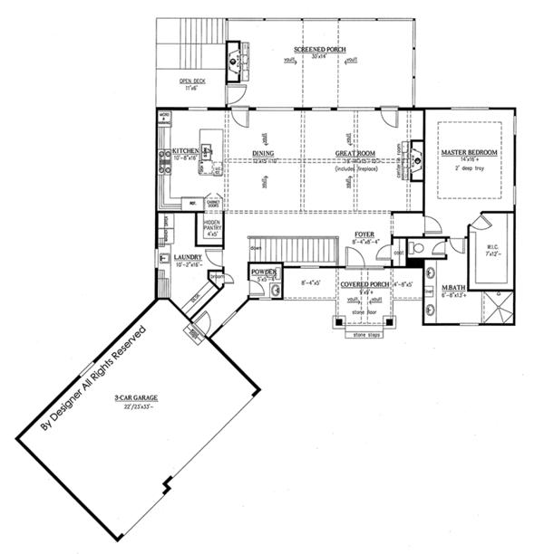 Craftsman Floor Plan - Main Floor Plan Plan #437-76