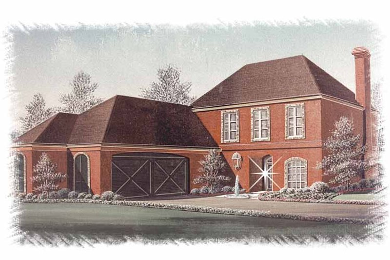 Country Exterior - Front Elevation Plan #15-334