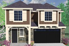 Country Exterior - Front Elevation Plan #509-237