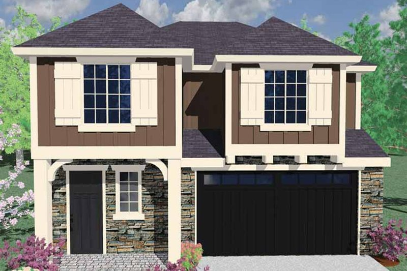 Country Exterior - Front Elevation Plan #509-237 - Houseplans.com
