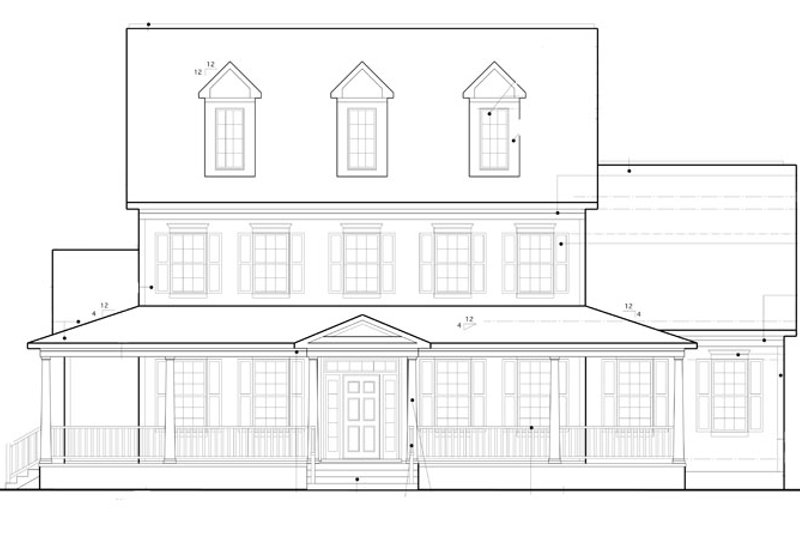 Colonial Exterior - Front Elevation Plan #1053-56 - Houseplans.com