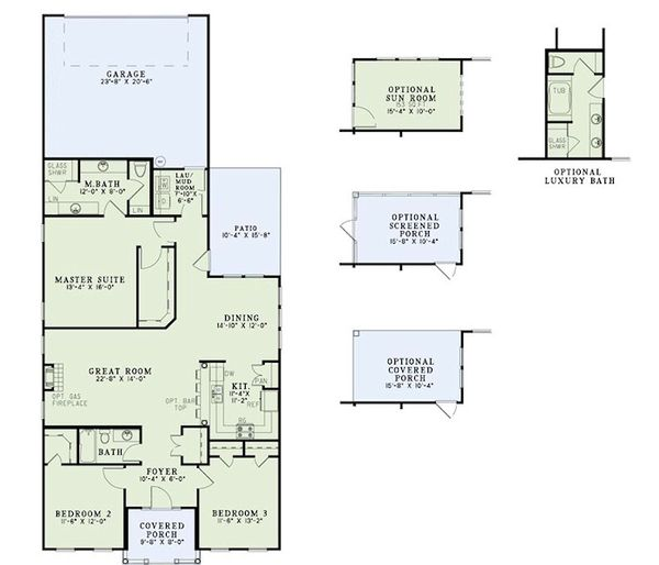 Traditional Floor Plan - Main Floor Plan Plan #17-2420