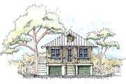 Beach Style House Plan - 2 Beds 1 Baths 869 Sq/Ft Plan #536-2