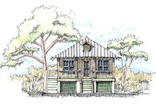 Home Plan - Beach Exterior - Front Elevation Plan #536-2