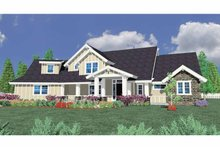 Prairie Exterior - Front Elevation Plan #509-381