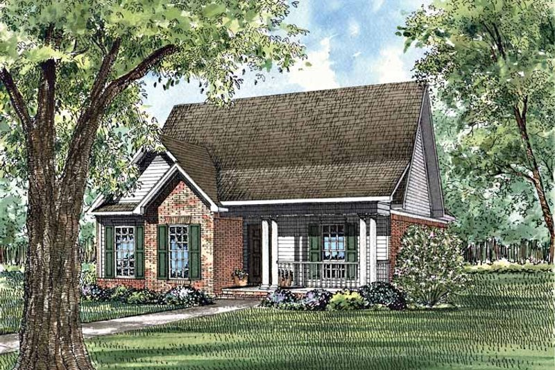 Ranch Exterior - Front Elevation Plan #17-2979