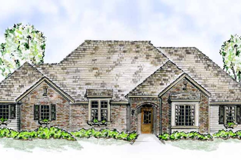 House Design - European Exterior - Front Elevation Plan #410-3563