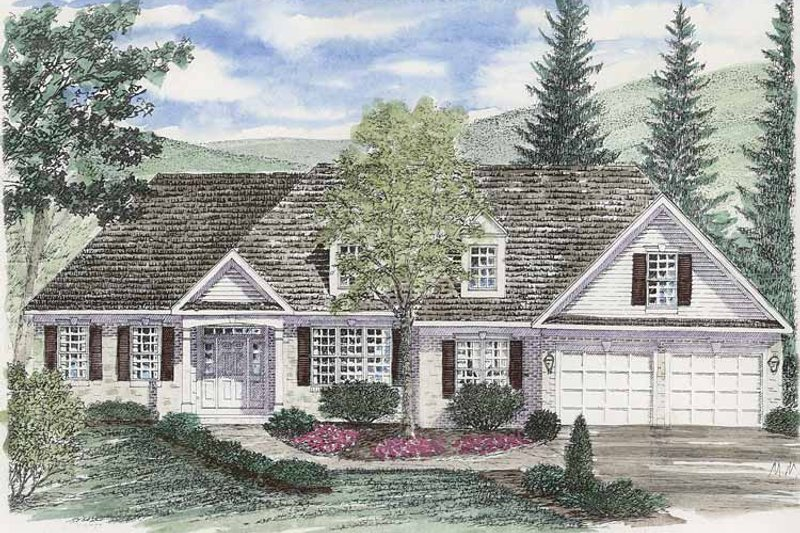 Ranch Exterior - Front Elevation Plan #316-251