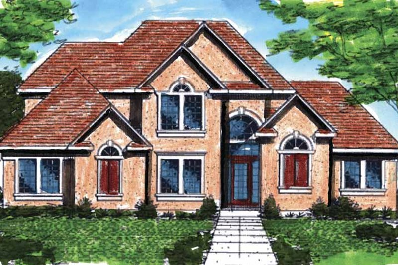 Traditional Exterior - Front Elevation Plan #320-929
