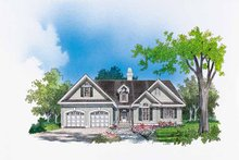 Dream House Plan - Ranch Exterior - Front Elevation Plan #929-420