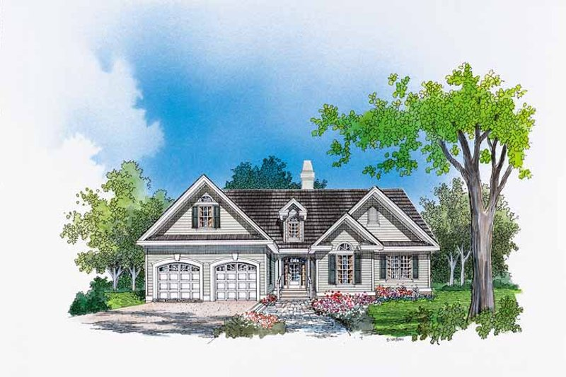 Ranch Exterior - Front Elevation Plan #929-420
