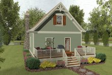 Architectural House Design - Craftsman Exterior - Rear Elevation Plan #56-721