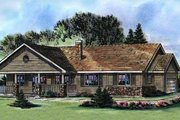 Ranch Style House Plan - 3 Beds 2 Baths 1493 Sq/Ft Plan #18-9546 Exterior - Front Elevation