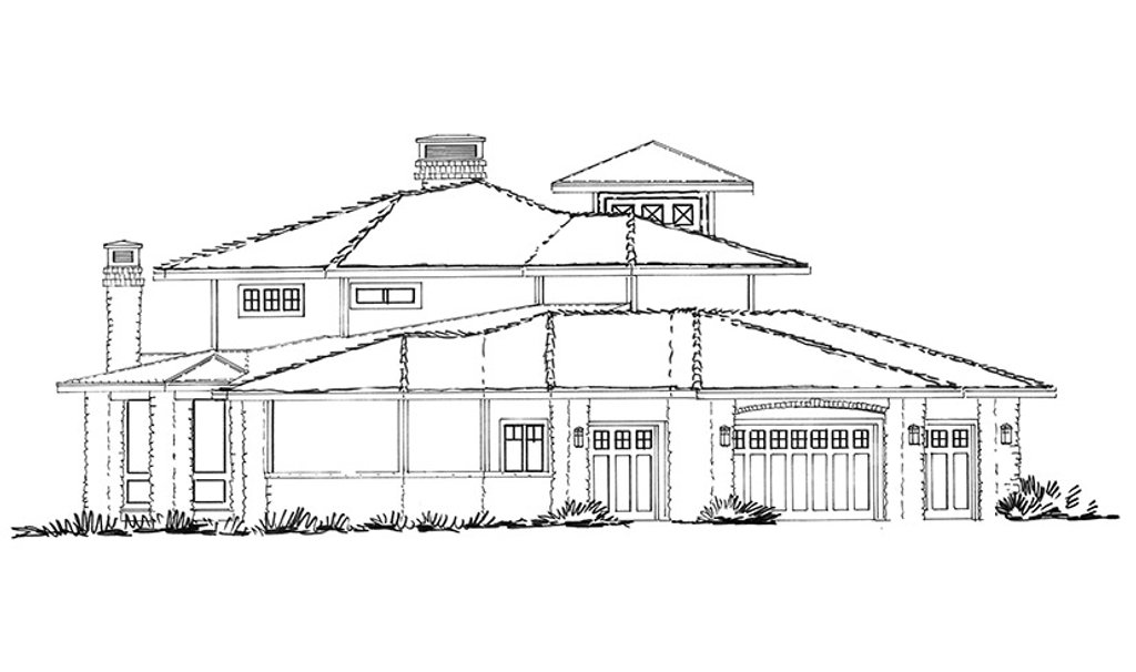 prairie style house plan - 4 beds 4 5 baths 4520 sq  ft plan  942-37