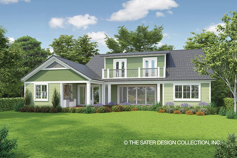 Country Exterior - Rear Elevation Plan #930-469 - Houseplans.com