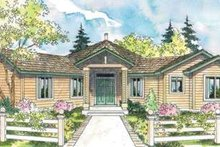 Ranch Exterior - Front Elevation Plan #124-574