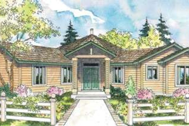 Ranch Exterior - Front Elevation Plan #124-574 - Houseplans.com