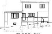 Traditional Style House Plan - 3 Beds 2.5 Baths 1459 Sq/Ft Plan #75-162 Exterior - Rear Elevation