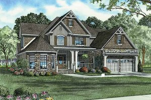 Dream House Plan - Country Exterior - Front Elevation Plan #17-2677