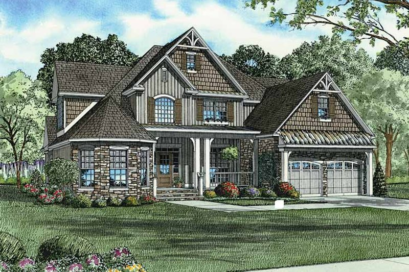 Architectural House Design - Country Exterior - Front Elevation Plan #17-2677