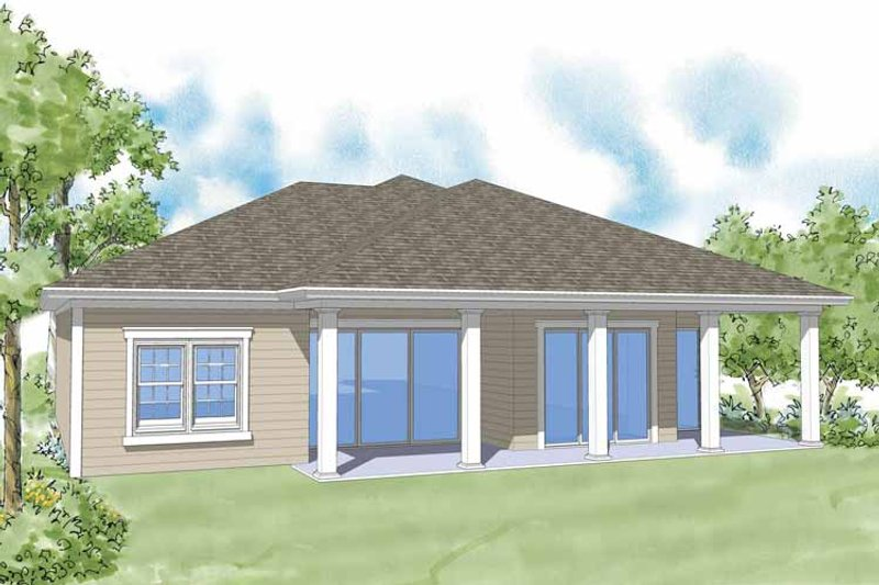 Country Exterior - Rear Elevation Plan #930-371 - Houseplans.com