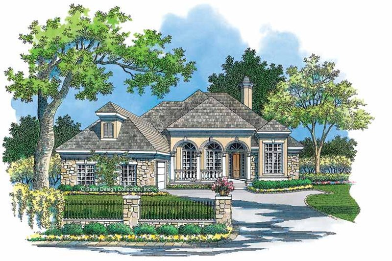 Mediterranean Exterior - Front Elevation Plan #930-118