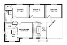 Traditional Floor Plan - Upper Floor Plan Plan #1057-5