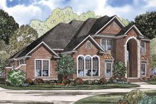 House Plan Design - Traditional Exterior - Front Elevation Plan #17-2899