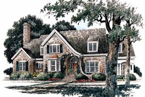 Country Exterior - Front Elevation Plan #429-337