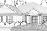 Traditional Style House Plan - 3 Beds 2 Baths 1692 Sq/Ft Plan #63-367 Exterior - Front Elevation
