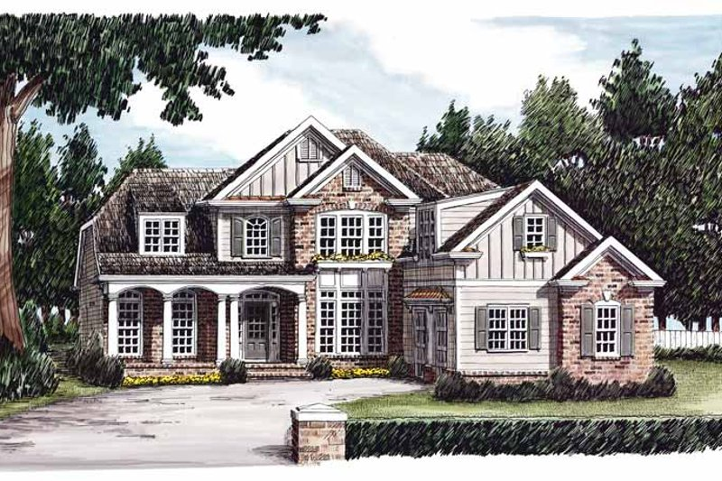 Country Exterior - Front Elevation Plan #927-604 - Houseplans.com