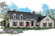 Country Exterior - Front Elevation Plan #72-855