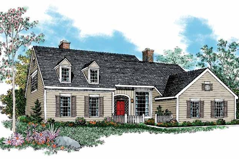 House Blueprint - Country Exterior - Front Elevation Plan #72-855