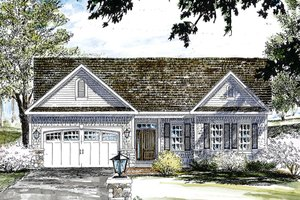 Architectural House Design - Colonial Exterior - Front Elevation Plan #316-285