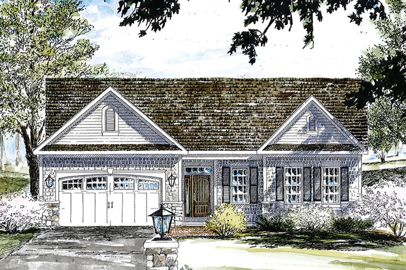 House Plan Design - Colonial Exterior - Front Elevation Plan #316-285