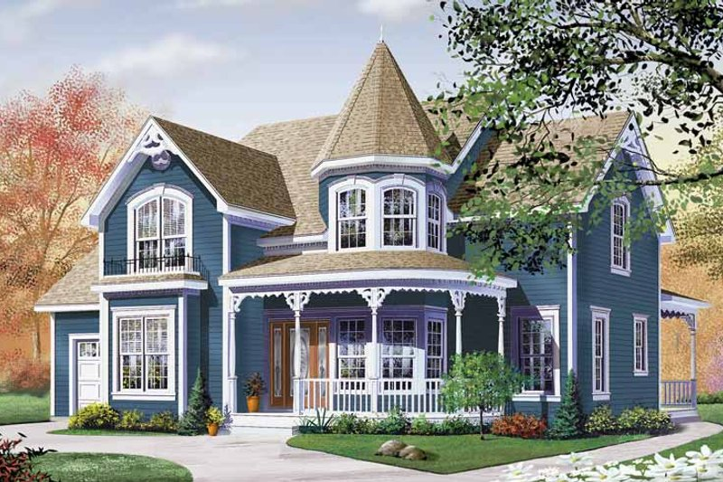 Victorian Exterior - Front Elevation Plan #23-2345 - Houseplans.com
