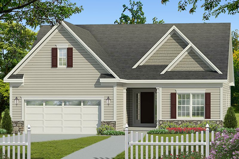Architectural House Design - Ranch Exterior - Front Elevation Plan #1010-181