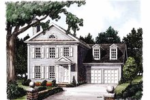 Classical Exterior - Front Elevation Plan #927-712