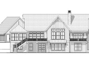 Country Style House Plan - 4 Beds 3.5 Baths 4759 Sq/Ft Plan #901-17 Exterior - Rear Elevation